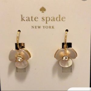 Kate spade disco pansy drop earrings